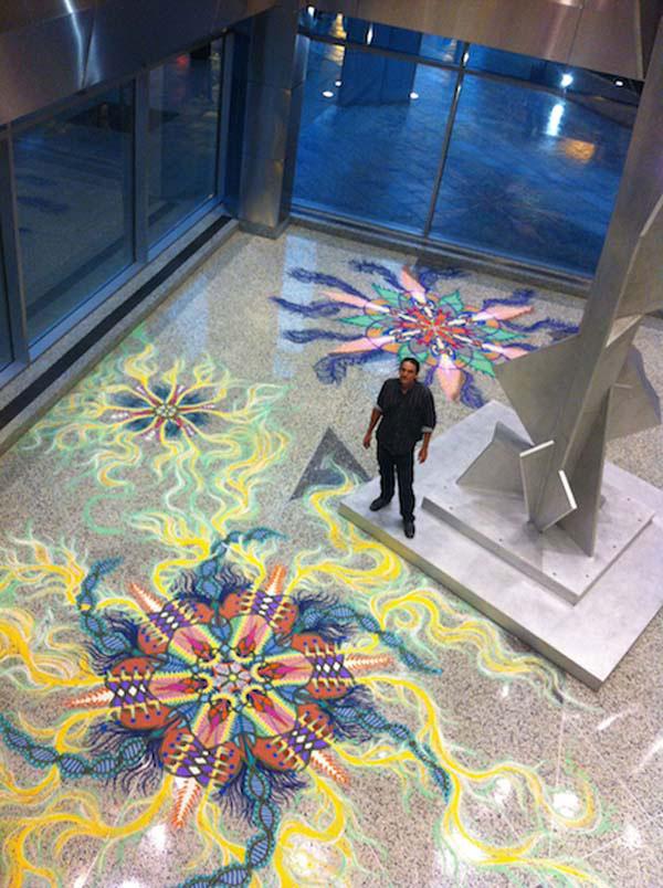 不得不惊叹Joe Mangrum创造的沙画艺术的神奇魅力
