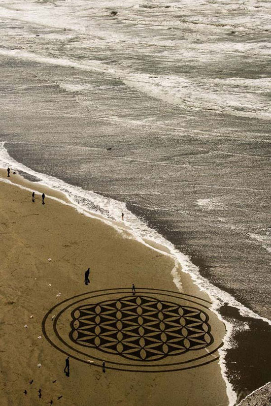 沙画艺术 震撼人心的自然创作