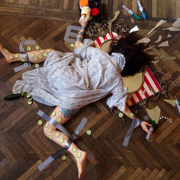 """摄影师Sandro Giordoan创作的如此""""惨烈狼狈""""的照片"""