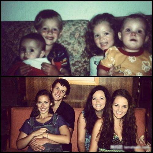 过去和现在 满满爱的照片