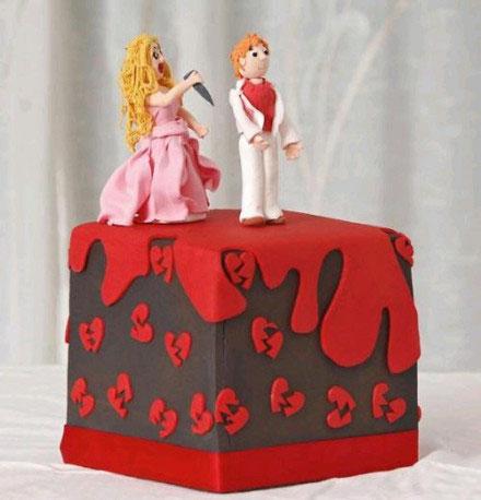 离婚蛋糕盛行欧美,夫妻之间这是有多大仇!!!