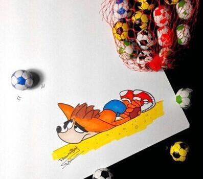 instagram画家分享好玩的零食小插画