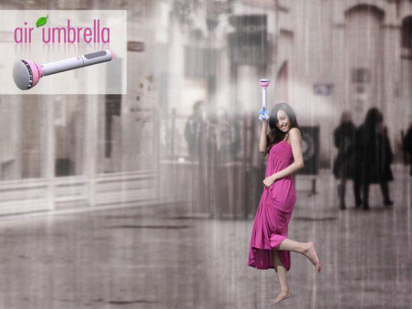 用空气来当伞面的新型空气雨伞