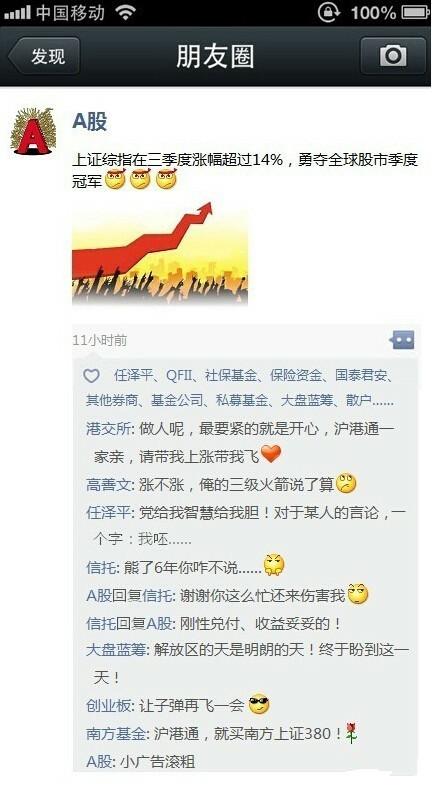 中国P2P之假如金融产品也有微信朋友圈...A股亮了!
