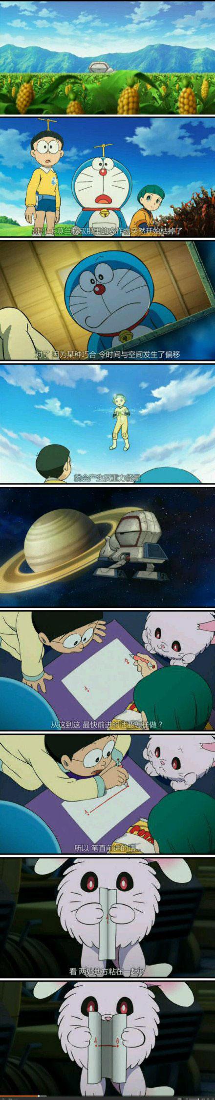 """《星际穿越》被指""""抄袭""""了《哆啦A梦》"""