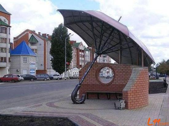 别具一格的公交站,最后一张亮瞎眼