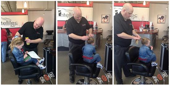 好有爱的爸爸!为了女儿 业余苦练终成辫子大师