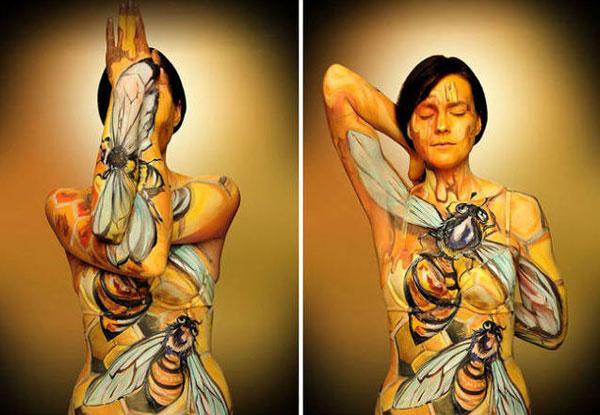 裸体也是一种艺术,完美人体彩绘!
