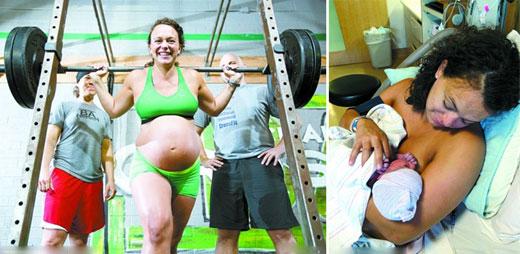 看看全球如此彪悍的孕妇们