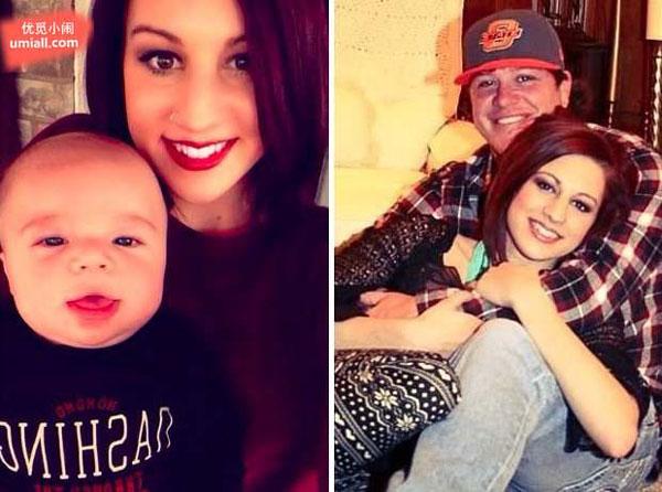 她怀孕8个月时失去爱人,于是摄影师帮她完成了这幅感人的全家福