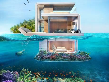 迪拜新式漂浮别墅 可享水陆双重梦幻美景