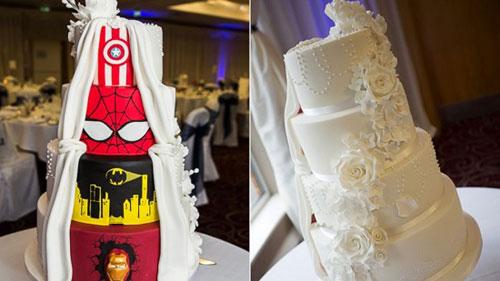 创意双面婚礼蛋糕 解决新人分歧并获赞