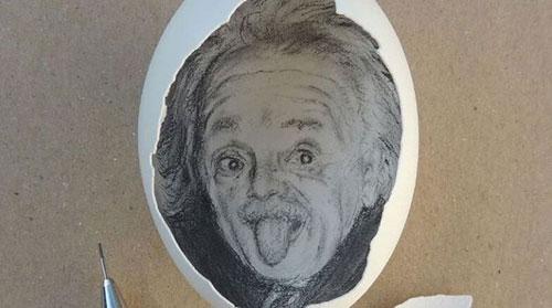土耳其艺术家在蛋壳上绘世界名画 获世界各地网友追捧