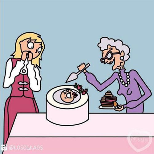 母爱的伟大!漫画展示怀孕的残忍和滑稽
