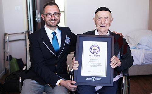 112岁又178天高龄 以色列老人成全球最长寿男性
