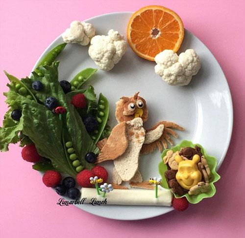 美国妈妈巧手做卡通主题午餐 款款如艺术品走红网络