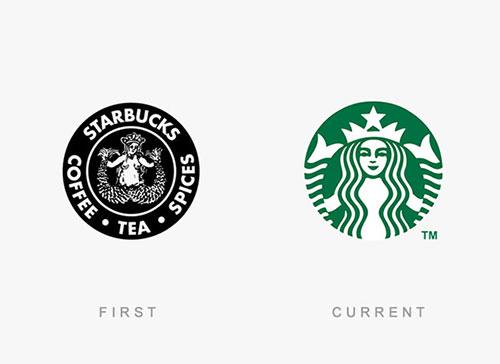 """盘点20大名牌Logo的""""前世今生"""" 星巴克竟然是露点图!"""