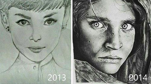 你一定不敢相信 这两幅画出自同一人之手