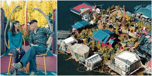 外国夫妇买不起房买荒岛 24年改造成完美梦想家园