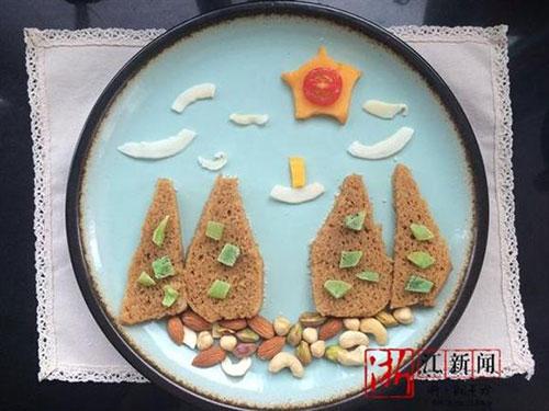 中学教师为女儿制作特色古诗早餐 引粉丝围观