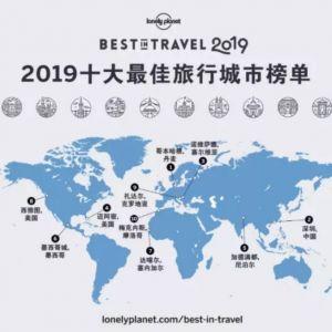 2019年十大最佳旅行城市神字,深圳排名第二